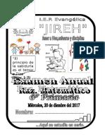 Exam Mensual 6º Rm. Primaria 2017