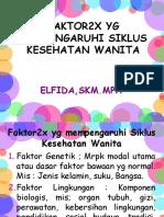 FAKTOR YG PENGARUHI SIKLUS KES WANITA PERT 3.ppt