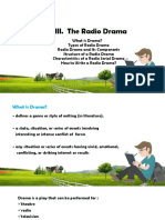 Unit III. the Radio Drama 2