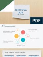 Psed Forum 2019