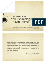 Intervención neuropsicologica en adulto mayor
