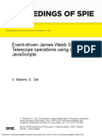 Event-driven James Webb Space Telescope operations using on-board JavaScripts
