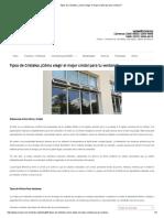 Tipos de Cristales ¿Cómo elegir el mejor cristal para tu ventana - México.pdf
