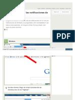 Deshabilitar Notificaciones en Chrome