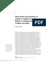 Sara o'Brien - Sticky Matter the Persistence of Animals as Allegory in Lucrecia Martel's La Cienaga and La Mujer Sin Cabeza