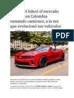 Chevrolet lideró el mercado en 2018 en Colombia sumando camiones.docx