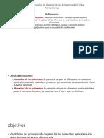 Principios Generales de Higiene de Los Alimentos Del