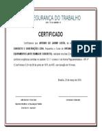 Certificado Individual - Operador de Auto Bomba de Concreto