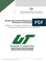 modelo de inclusión Santa Catarina