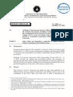 Division Memorandum on Application for Monetization of Leave Credits
