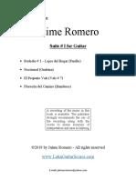Jaime Romero obras para guitarra