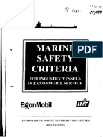 Marine Safety Criteria