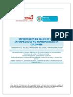 Inequidades Salud Enfermedades No Transmisibles Colombia
