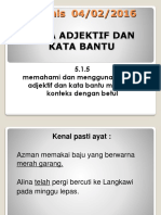 Kata Adjektif Dan Kata Bantu