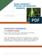 Persona, Dignidad y DD.hh.