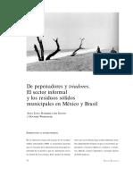 De pepenadores y triadores. El setor informal y los resíduos sólidosmunicipales en Mexico y Brasil.