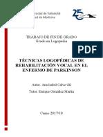 Rehabilitacion Vocal Enf. Parkinson Logopedia