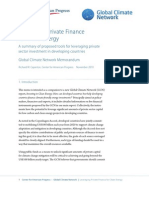 Leveraging Private Finance for Clean Energy