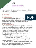 Anotações Aula de Direito de Familia 27-09 e 04-10