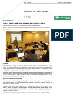 Magister Manajemen FEB UGM » Professional Financial Modeller (PFM®)