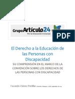 El Derecho a La Educación de Las Personas Con Discapacidad