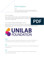 About the Unilab Foundation.docx