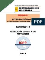 MODULO 01 - TITULO 11 - CALIFICACION EXIGIBLE A LOS PROVEEDORES.docx