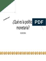 1 Primera Clase Que Es Politica Monetaria