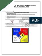 Identificacion de Sustancias y Rombo de Seguridad Msds