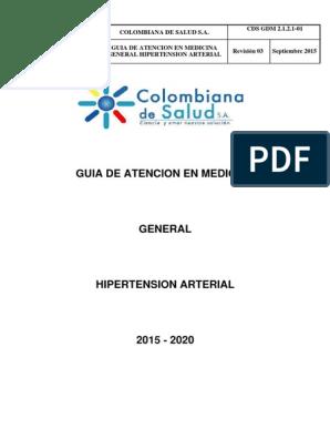 Directrices para el manejo de la hipertensión jnc 8 pdf