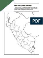 Mapa de Los Primeros Pobladores Del Perú