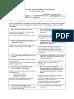 pre-observation form
