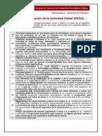Escala de Evaluacin de La Actividad Global (EEAG)