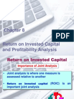 Ch 8 Return on Investes Capital and Profotability Analysis