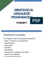 03 ElementosDelLenguajeC I