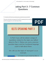 IELTS Speaking Part 3- 7 Common Questions – IELTS Advantage