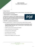 Quickbooks Enterprise Proposal - Maycar Foods, Inc