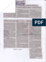 Manila Bulletin, Apr. 24, 2019, China has proven to be a partner in development- Speaker Arroyo.pdf