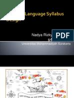TYPES OF LANGUAGE SYLLABUS DESIGN
