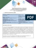 Syllabus del curso practica pedagógica II (Lic. en matemáticas)