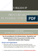 Procurement Planning & Activity