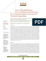 Resilience of humifiation process to evaluate soil recovery in a semiarid agroecosystem of Central Argentina