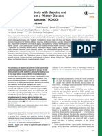KDIGO Management of Patients With Diabetes and CKD
