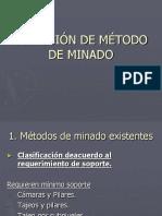 Selección de Método de Minado