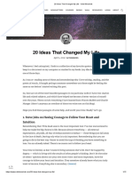 20 Ideas That Changed My Life - Safal Niveshak