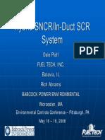 Hybrid SNCR