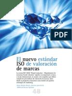 El nuevo estandar ISO valoracion MARCAS