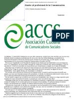 Desde La Academia, Defender Al Profesional de La Comunicación - ACN