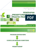Preseptorship Dalam Praktik Profesi Ners