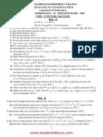 MA6251-Mathematics II 2013 Regulation